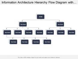 Information Architecture Hierarchy Flow Diagram With Arrows