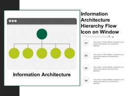 Information Architecture Hierarchy Flow Icon On Window