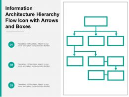 Information Architecture Hierarchy Flow Icon With Arrows And Boxes