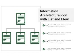 Information Architecture Icon With List And Flow