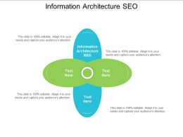 Information Architecture SEO Ppt Powerpoint Presentation Ideas Backgrounds Cpb