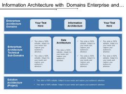 Information Architecture With Domains Enterprise And Solution
