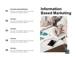 Information Based Marketing Ppt Powerpoint Presentation Styles Visuals Cpb