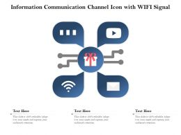 Information Communication Channel Icon With Wifi Signal