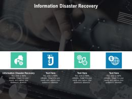 Information Disaster Recovery Ppt Powerpoint Presentation File Grid Cpb