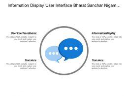 Information Display User Interface Bharat Sanchar Nigam Limited