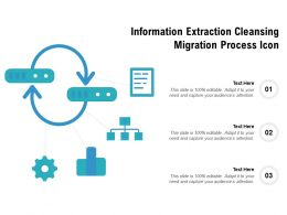 Information Extraction Cleansing Migration Process Icon