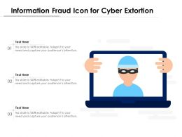 Information Fraud Icon For Cyber Extortion
