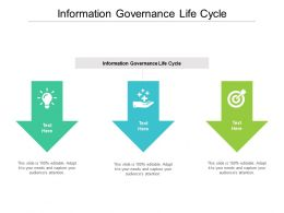 Information Governance Life Cycle Ppt Powerpoint Presentation Summary Templates Cpb