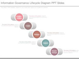 Information Governance Lifecycle Diagram Ppt Slides