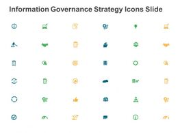 Information Governance Strategy Icons Slide Ppt Powerpoint Presentation File Deck