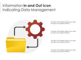 Information In And Out Icon Indicating Data Management