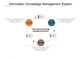 Information Knowledge Management System Ppt Powerpoint Presentation Summary Visual Aids Cpb