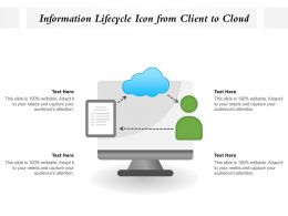 Information Lifecycle Icon From Client To Cloud
