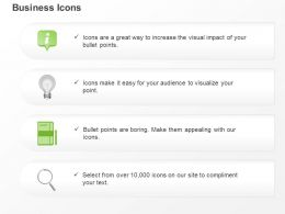 Information Lightbulb Diary For Notes Search Ppt Icons Graphics