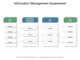 Information Management Assessment Ppt Powerpoint Presentation Layouts Graphics Cpb