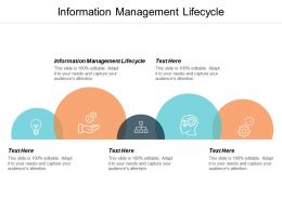 Information Management Lifecycle Ppt Powerpoint Presentation Infographic Template Shapes Cpb