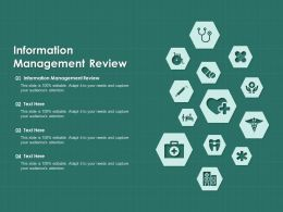 Information Management Review Ppt Powerpoint Presentation Show Tips