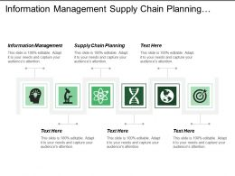 Information Management Supply Chain Planning Business Intelligence Policy Consulting