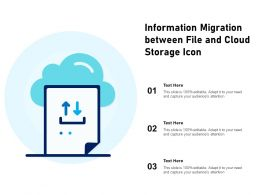 Information Migration Between File And Cloud Storage Icon