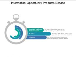 Information Opportunity Products Service Ppt Powerpoint Presentation Summary Elements Cpb