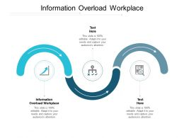 Information Overload Workplace Ppt Powerpoint Presentation Slides Guidelines Cpb