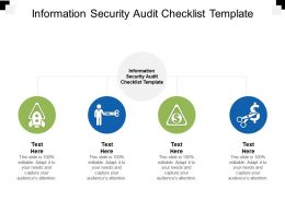 Information Security Audit Checklist Template Ppt Powerpoint Presentation Model Influencers Cpb