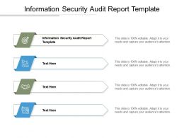 Information Security Audit Report Template Ppt Powerpoint Presentation Professional Outline Cpb
