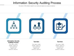 Information Security Auditing Process Ppt Powerpoint Presentation Outline Inspiration Cpb