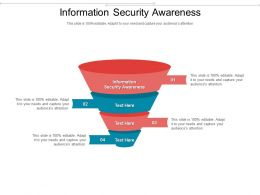Information Security Awareness Ppt Powerpoint Presentation Pictures Example Cpb