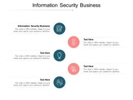 Information Security Business Ppt Powerpoint Presentation File Background Image Cpb