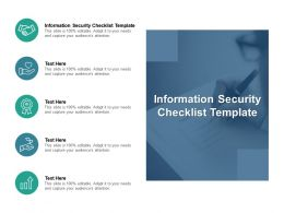 Information Security Checklist Template Ppt Powerpoint Presentation Infographics Introduction Cpb