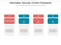 Information Security Control Framework Ppt Powerpoint Presentation Show Good Cpb