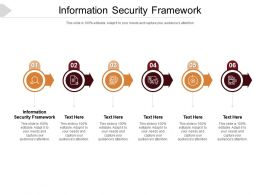 Information Security Framework Ppt Powerpoint Presentation Infographics Clipart Cpb