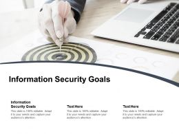 Information Security Goals Ppt Powerpoint Presentation Themes Cpb