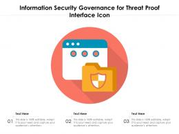 Information Security Governance For Threat Proof Interface Icon