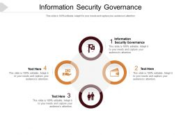 Information Security Governance Ppt Powerpoint Presentation Professional Visuals Cpb