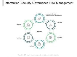 Information Security Governance Risk Management Ppt Powerpoint Presentation Slides Cpb