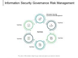 Information Security Governance Risk Management Ppt Powerpoint Presentation Slides Cpb