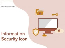 Information Security Icon Financial Software Computer Database Server Network Document