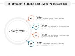 Information Security Identifying Vulnerabilities Ppt Powerpoint Presentation File Model Cpb