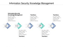 Information Security Knowledge Management Ppt Powerpoint Presentation Infographics Summary Cpb