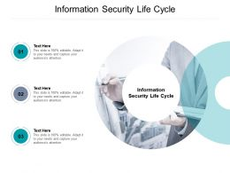 Information Security Life Cycle Ppt Powerpoint Presentation Outline Design Inspiration Cpb