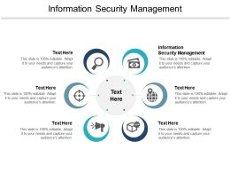 Information Security Management Ppt Powerpoint Presentation Professional Brochure Cpb