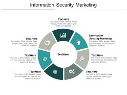 Information Security Marketing Ppt Powerpoint Presentation Ideas Brochure Cpb