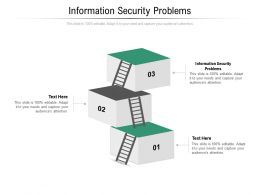 Information Security Problems Ppt Powerpoint Presentation Infographics Diagrams Cpb