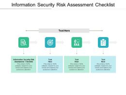 Information Security Risk Assessment Checklist Ppt Powerpoint Presentation File Elements Cpb