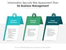 Information Security Risk Assessment Plan For Business Management