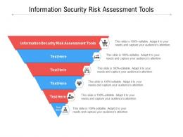 Information Security Risk Assessment Tools Ppt Powerpoint Presentation Styles Gallery Cpb