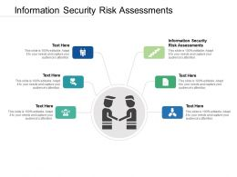 Information Security Risk Assessments Ppt Powerpoint Presentation Model Graphics Example Cpb